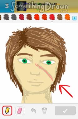 Drawn scar