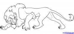 Drawn hyena disney