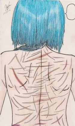 Drawn scar whip