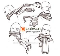 Drawn scarf