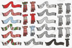 Drawn scarf doodle