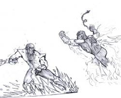 Drawn scorpion sub zero