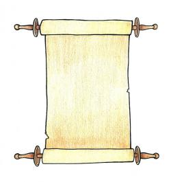 Drawn paper scroll