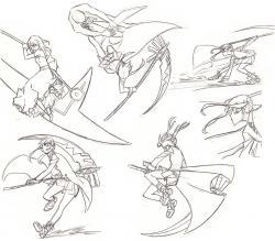 Drawn scythe battle
