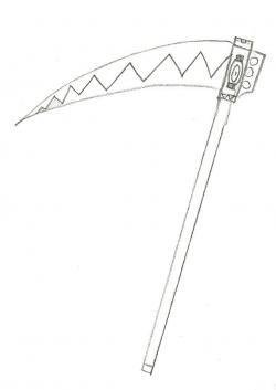 Drawn scythe drawing