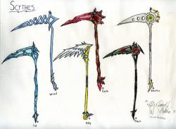 Drawn scythe holy