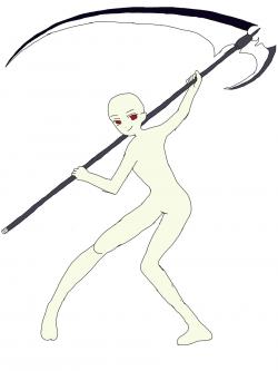 Drawn scythe magic