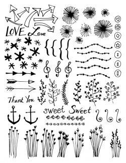 Drawn photos doodle