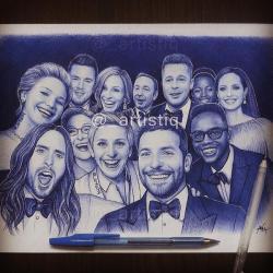 Drawn selfie
