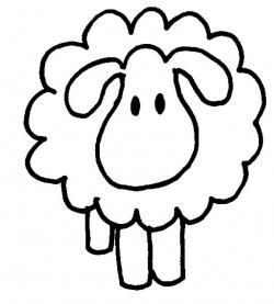 Drawn lamb baby sheep