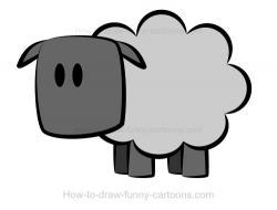 Drawn lamb cartoon