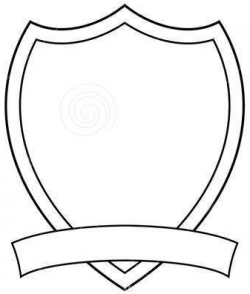 Drawn shield coat arm