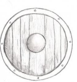 Drawn shield medieval