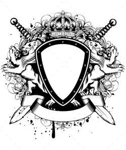 Drawn shield ornament