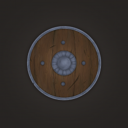 Drawn shield wooden