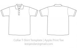 Shirt clipart collar template