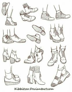 Drawn sneakers anime