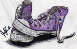 Converse clipart purple