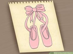 Drawn shoe ballet slipper