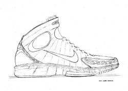Drawn sneakers basketball shoe