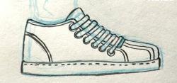 Drawn sneakers simple