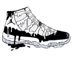 Drawn sneakers air jordan 11