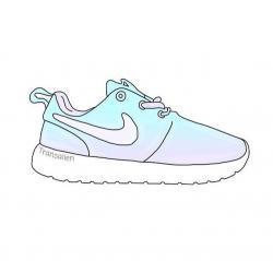 Drawn pice nike shoe