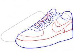 Drawn shoe nike trainer