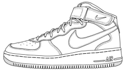Drawn sneakers trainer