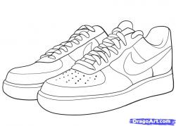 Drawn sneakers logo