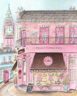 Drawn shop pastry shop