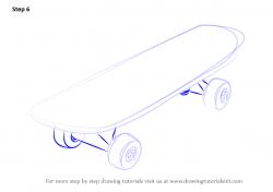 Drawn skateboard easy