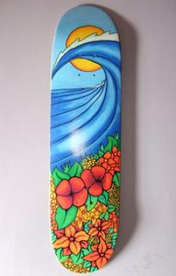 Drawn skateboard skateboard deck