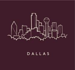 Drawn skyline dallas texas