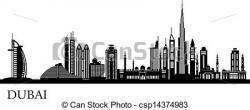 Dubai clipart Dubai Skyline Clipart