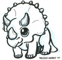 Triceratops clipart draw a