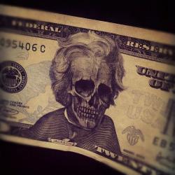 Drawn money dead president