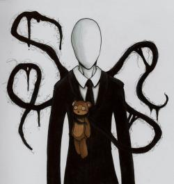 Drawn slenderman anime