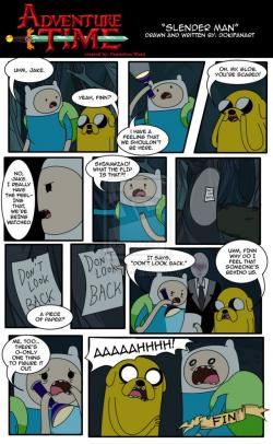 Slender Man clipart adventure time