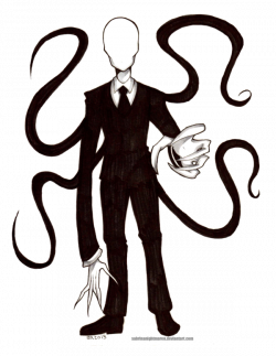 Drawn slenderman transparent