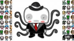 Drawn slenderman cartoon