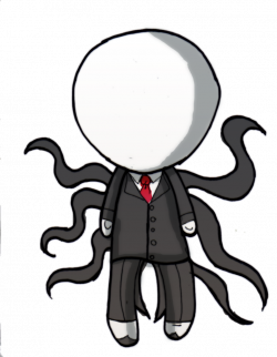 Drawn slenderman chibi