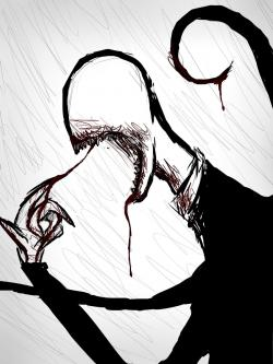 Drawn slender man creepypasta