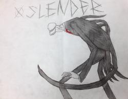 Drawn slenderman creepy