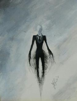 Drawn slenderman hidden
