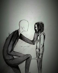 Drawn slender man love