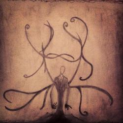 Drawn slenderman pencil