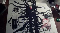 Drawn slenderman the rake
