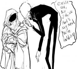 Drawn slenderman the tall man