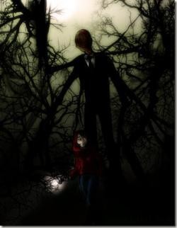Slender Man clipart spotted